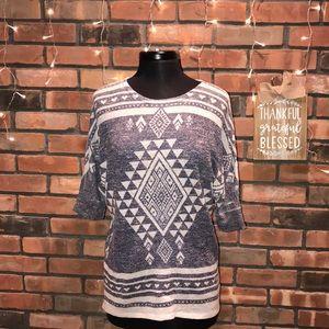 🍁💙Soft Light Fall Knit Sweater SouthWest Print